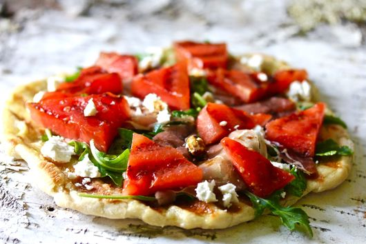 Grilled Watermelon on Flatbread Pizza