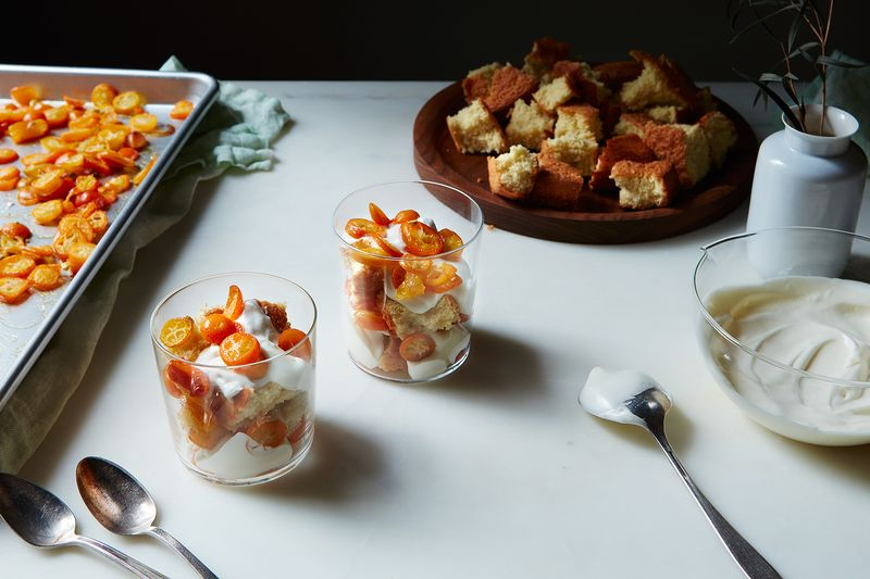 Roasted Kumquat Trifle