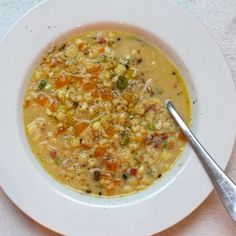Sweet Corn Soup with Pancetta and Green Garlic