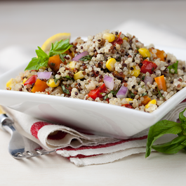 Basil, Pepper and Corn Summer Quinoa Salad