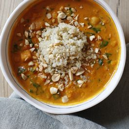 African Squash and Peanut Stew with Coconut Milk and Quinoa