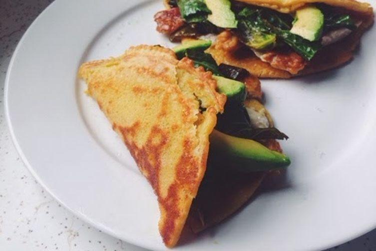 Vegan Chickpea Flour Omelette.