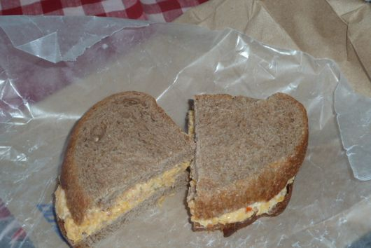 Green Olive Pimento Cheese Sandwich
