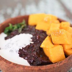 Black Rice Pudding with Mango & Mint