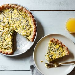 Asparagus, Leek, and Ricotta Quiche