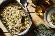Farro Gratin With Brussels Sprouts