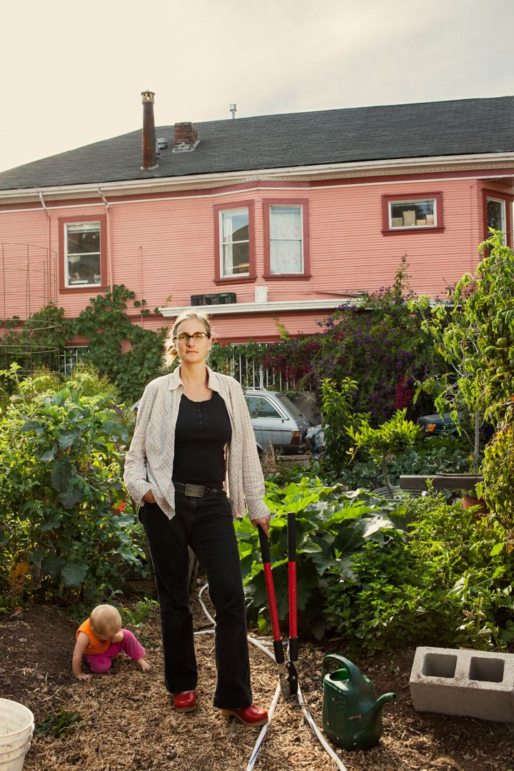 Novella Carpenter is an author and urban farmer. She keeps all kinds of animals (and a baby!) on her farm in Oakland.