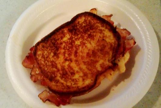 FABABS (Fried Almond Butter & Banana Sandwich)