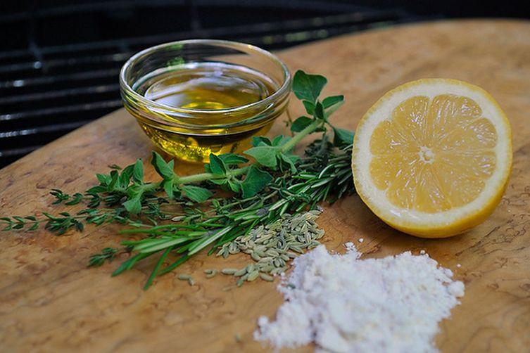 Grilled Lemon and Herb Flatbread
