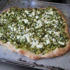 Corn and Feta Pizza with Cilantro Lime Pesto