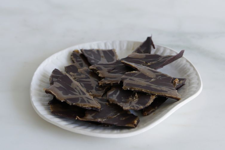 Chocolate and Nut Butter Caramel Bark