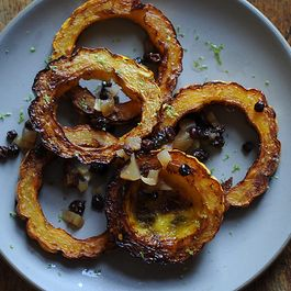Crispy Delicata Rings with Currant, Fennel & Apple Relish