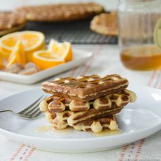 Honey Orange Ginger Waffles