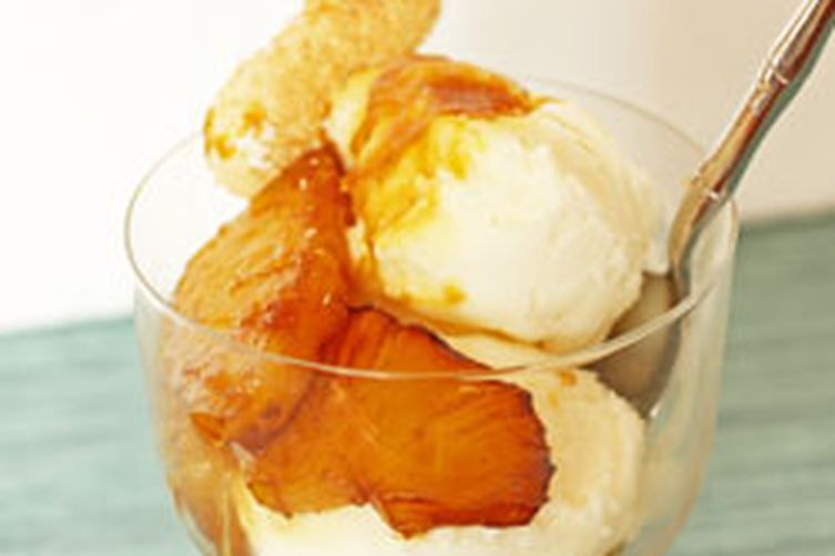 Pina Colada Sorbet with Caramelized Pineapple and Coconut Meringues ...