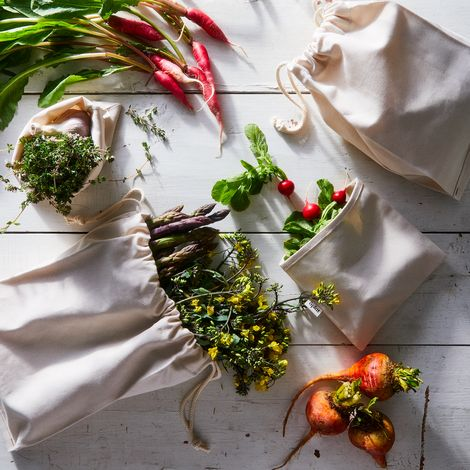 Re-Usable Cotton Food Storage Bags