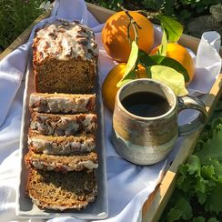 Fresh Orange Hummingbird Banana Loaf Cake with a Buttermilk Glaze