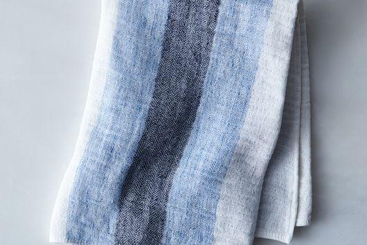 Striped Japanese Linen Tea Towel