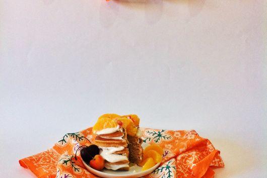 Orange-Rum Gingerbread Pancakes
