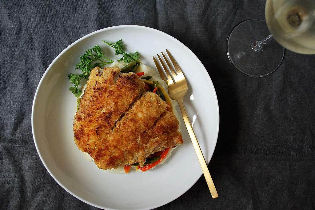Ritz cracker crusted bluefish recipe for Blue fish recipes