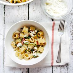 Brown Butter Pasta Salad with Brussel Sprouts and Ricotta