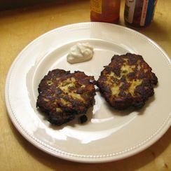 Green Chile and Chorizo Potato Pancakes