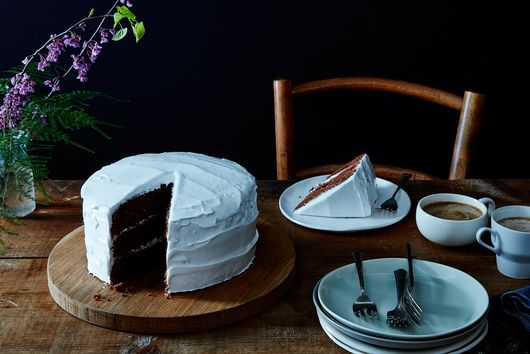 "Devil's Food Cake with ""Piquant"" Boiled Icing, Late 19th Century"