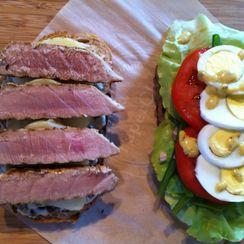 Grilled Tuna Nicoise Sandwich