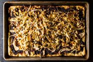 Grilled Fennel Flatbread with Olives and Sultanas