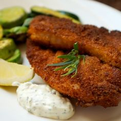 Pan Fried Red Snapper with Tarragon Tartar Sauce