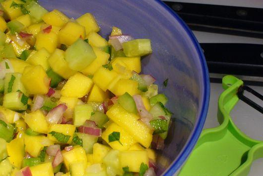 Cucumber-Mango Salsa