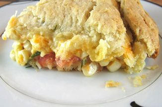 Heirloom tomato and corn pie with biscuit crust recipe on for Table 52 biscuit recipe