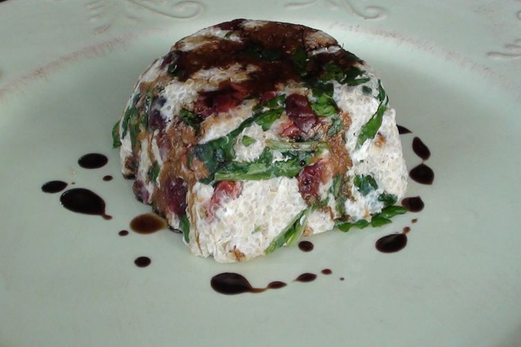 Walnut and Quinoa Salad with Goat Cheese, Dried Cherries and Arugula