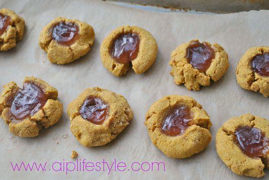 Autoimmune Paleo Raspberry Thumbprint Cookies