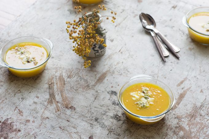 Saffron Yellow Pepper Soup