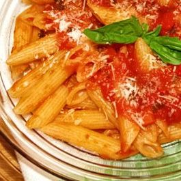 Classic Penne with Tomato-Basil Sauce
