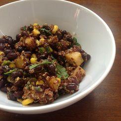 Mango and Quinoa Chopped Salad with Ancho-Mango Dressing