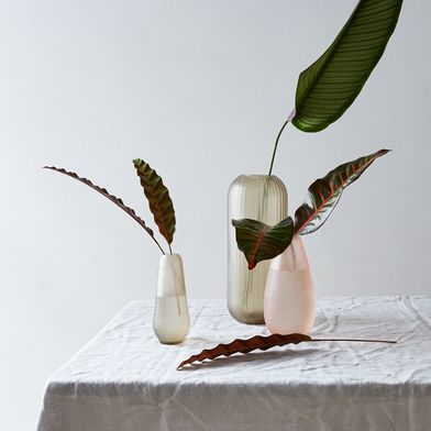 Food52 x Hawkins New York Hand-Cut Textured Glass Vases