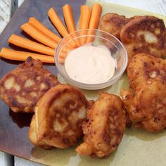Jalapeno Corn Fritters with Buffalo Aioli