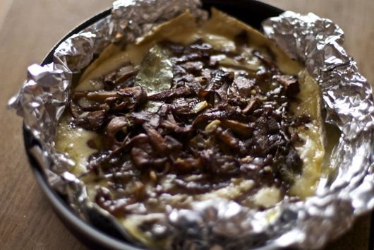 Baked Brie With Caramelized Onions & Wild Mushrooms