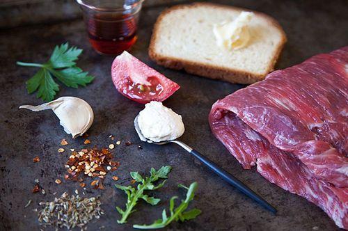 Flank Steak on Texas Toast with Chimichurri