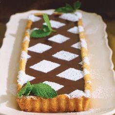 Française à la Truffe Fraîche à la Menthe Tarte au Chocolat