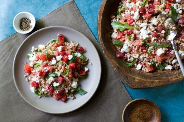 Tomato Watermelon Farro Salad
