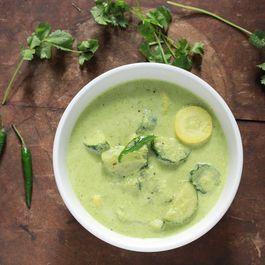 Summer Squash in Herby Coconut Yogurt Curry