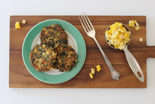 Quinoa and Corn Patties