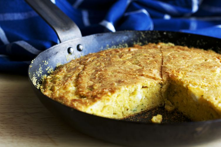 zucchini & goat cheese corn bread AKA Proja