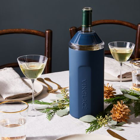 Vinglacé Wine Bottle Chiller & Wine Glass