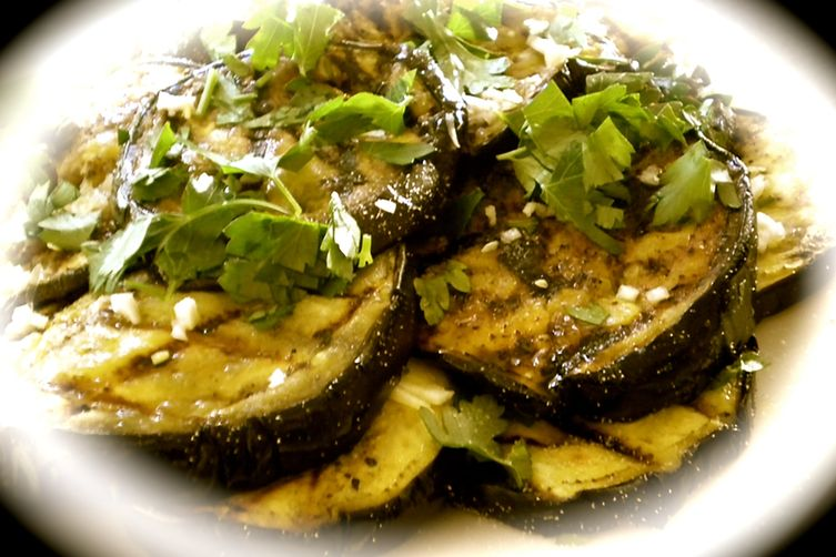 Grilled Eggplant with Lemon and Garlic