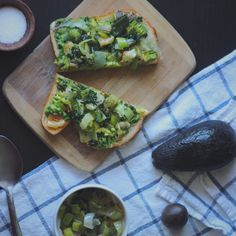 Leek, Roasted Garlic, and Avocado Toast