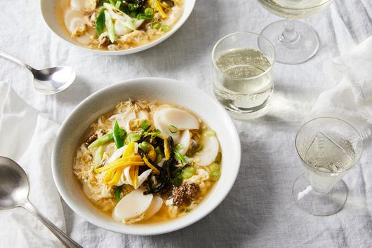 Korean Dduk Guk Rice Cake Soup