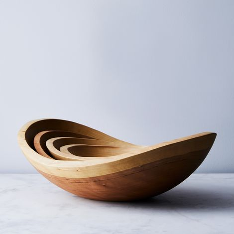 Handcrafted Organic Edge Wood Bowls